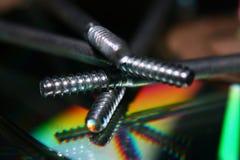 Skruv och färg Arkivfoton