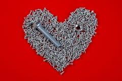 Skruva hjärta Arkivfoton