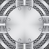 skruvar för metallplatta Royaltyfria Bilder