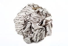 Skruvat upp pappers- Royaltyfria Bilder