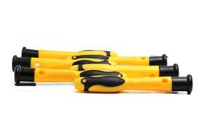 skruvmejslar med guling- och svarthandtaget Fotografering för Bildbyråer