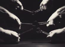 Skruvmejslar och skiftnycklar Royaltyfri Fotografi