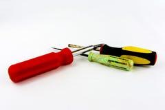 Skruvmejslar, skiftnycklar och plattång Arkivbild