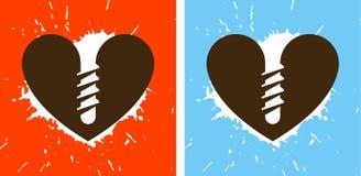 skruvning hjärta Arkivbilder