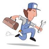 Skruvnyckel för toolbox för mekanikermanarbete Vektor Illustrationer