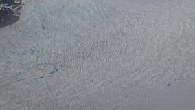 Skrynkla på den Mendenhall glaciären Juneau Alaska arkivbilder