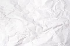 Skrynkla pappers- vit Royaltyfri Bild