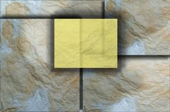 Skrynkla pappersbakgrund på åtskilliga nivåer Arkivbilder