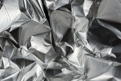 Skrynklig Aluminum metallfolie Royaltyfria Bilder