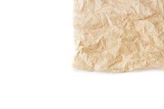 Skrynklig bakgrund för textur för silkespapperpapper Royaltyfri Foto