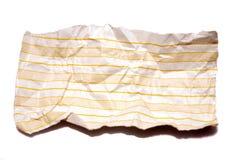 skrynklig fodrad notepaper royaltyfria foton