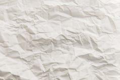 Skrynklig ljus vit textur för konstpapper Royaltyfri Fotografi