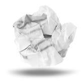 Skrynklig paper boll Royaltyfri Bild