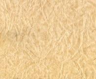 skrynklig paper textur Brunt skrynkligt pergament Arkivfoto