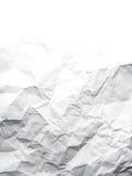 skrynklig paper texturwhite Fotografering för Bildbyråer