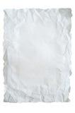 skrynklig paper white Royaltyfri Bild