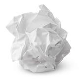 Skrynklig pappers- boll Royaltyfri Bild