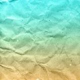 Skrynklig pappers- textur eller bakgrund Royaltyfri Bild
