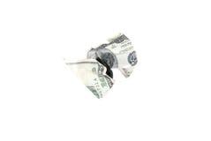 Skrynklig räkning för dollar 100 Arkivfoto