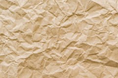 Skrynklig texturbakgrund för brunt papper Royaltyfri Bild