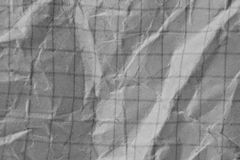 Skrynklig vitbok som en bakgrund Arkivbild