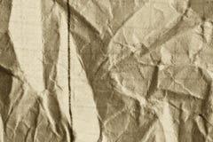 Skrynklig vitbok som en bakgrund Arkivbilder