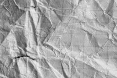 Skrynklig vitbok som en bakgrund Royaltyfri Bild