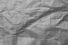 Skrynklig vitbok som en bakgrund Royaltyfri Foto