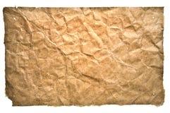 Skrynkligt antikt papper royaltyfri fotografi