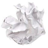 Skrynkligt ark av papper Arkivfoto