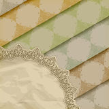 skrynkligt blom- papper mönsan textur Royaltyfri Fotografi