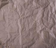 Skrynkligt brunt kraft papper Arkivbild