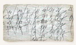 Skrynkligt grafpapper Arkivbild