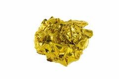 skrynkligt guldpapper Royaltyfria Foton