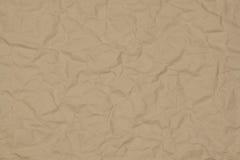 skrynkligt kraft papper Arkivbilder