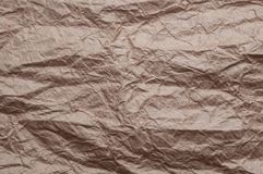 skrynkligt kraft papper Textur skrynklade ?teranv?nt gammalt papper arkivbilder