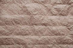 skrynkligt kraft papper Textur skrynklade ?teranv?nt gammalt brunt papper arkivbilder