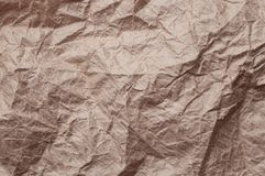 skrynkligt kraft papper Textur skrynklade ?teranv?nt gammalt brunt papper arkivbild