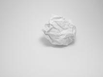 Skrynkligt papper Arkivbild