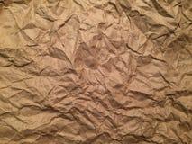 skrynkligt papper Arkivbilder