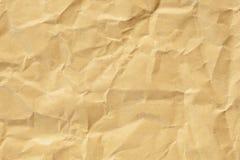 skrynkligt papper för bakgrund brown Royaltyfri Fotografi