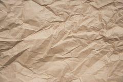 Skrynkligt papper för bakgrundsanvändning Royaltyfri Bild