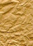 skrynkligt papper för påse brown Arkivfoton