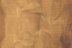 Skrynkligt papper för textur beiga papp Arkivfoton