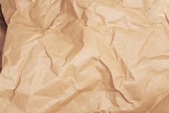 Skrynkligt papper för textur beiga papp Arkivbild