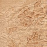 Skrynkligt papper för textur beiga papp Fotografering för Bildbyråer