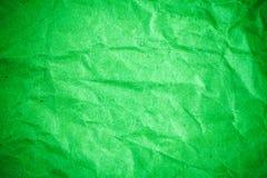 Skrynkligt papper f?r gr?n karakt?rsteckning royaltyfri fotografi