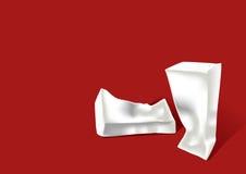 Skrynkligt papper mjölkar lådan Royaltyfri Foto