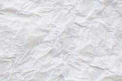 Skrynkligt papper och textur Arkivfoto