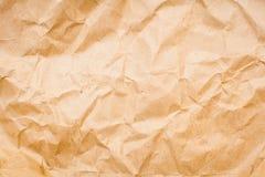 Skrynkligt papper och textur Royaltyfri Fotografi